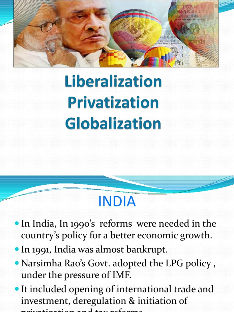 lpg in india liberlization privatization globalization