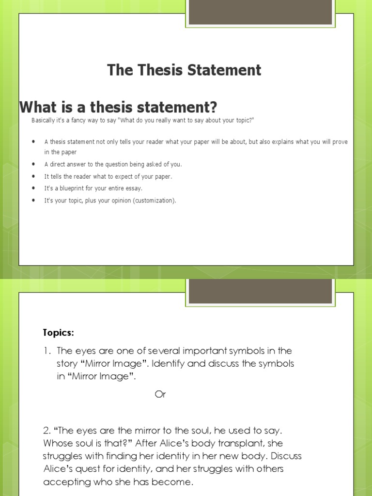 finding the thesis of an essay You can avoid this intense labor by ordering a thesis from power-essayscom our staff will select a writer who has excelled in field of your choice.