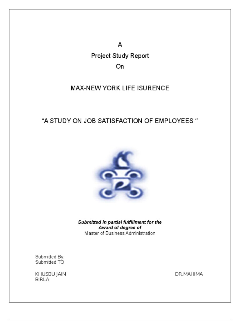 research project report on job satisfaction of employees Project report on job satisfaction of employees discuss project report on job satisfaction of employees within the human resources management (hr) forums, part of the publish / upload project or download reference project category the father of scientific management taylor's (1911) approach to job satisfaction.