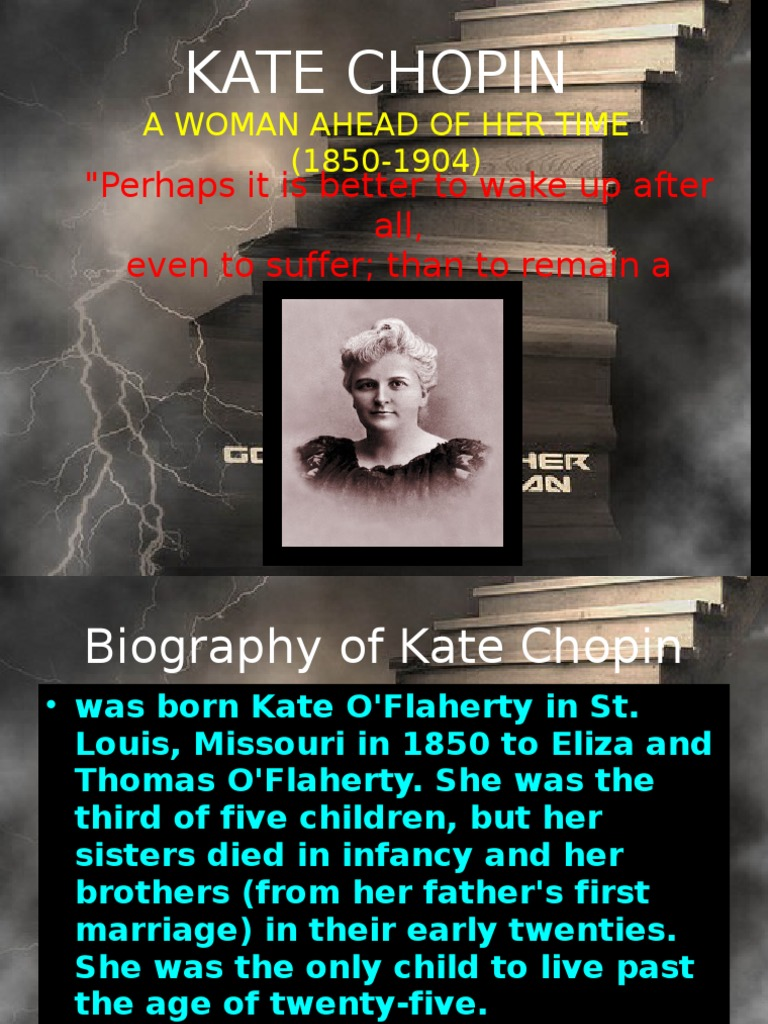 essays on kate chopin the storm