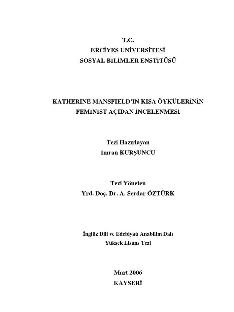 Katherine Mansfield :: essays research papers fc