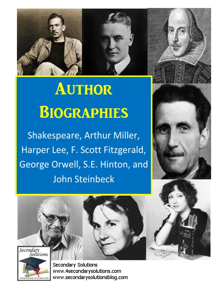 famous essays by authors Strange habits of famous writers in particular, many famous writers were known to be eccentric there are three main types of expository essays:.
