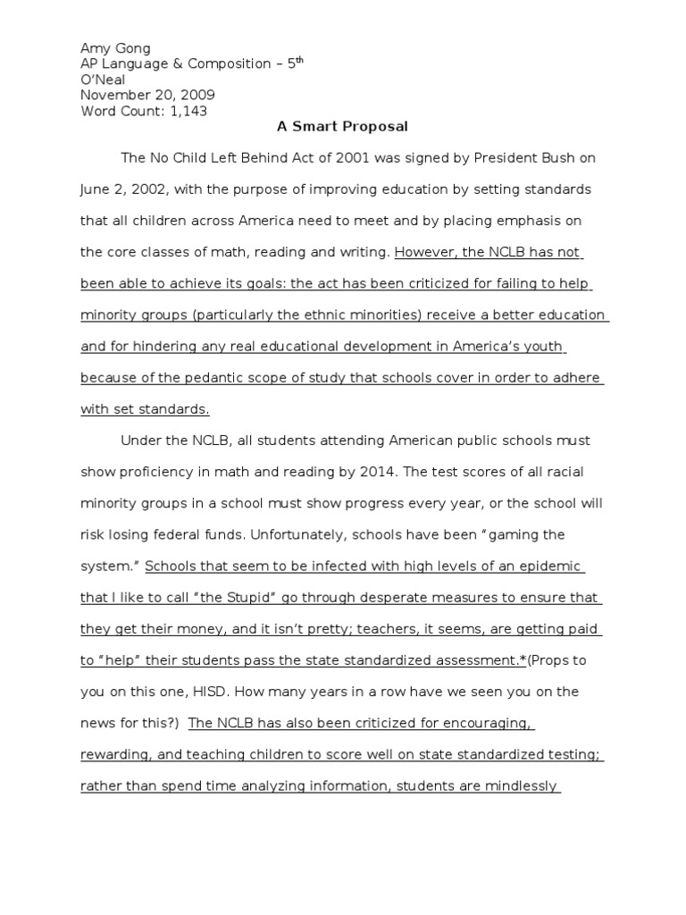 Example of an example essay