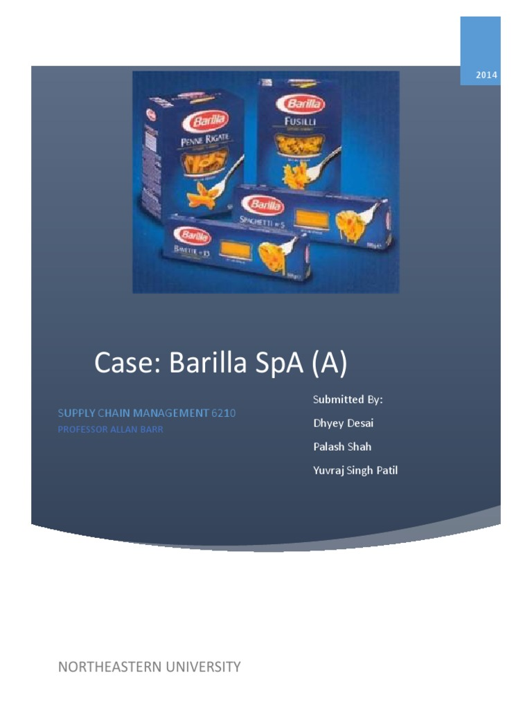 barilla spa case study answers Barilla spa case study as seen with barilla, the variability can be caused by several issues to begin with, lack of sharing information and visibility in the supply chain is among the reasons.