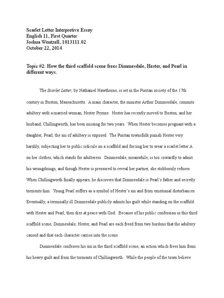 Guilt scarlet letter essay autumn essays free