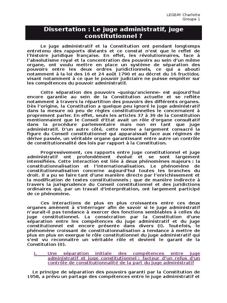 dissertation de droit constitutionnel la sparation des pouvoirs « toute société dans laquelle la garantie des droits n'est pas assurée ni la séparation des pouvoirs  des pouvoirs au lieu de  droit constitutionnel.