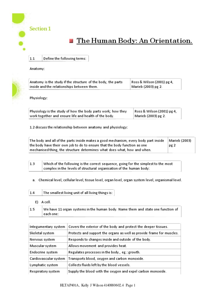 Essay questions in human physiology    Resume uu 13