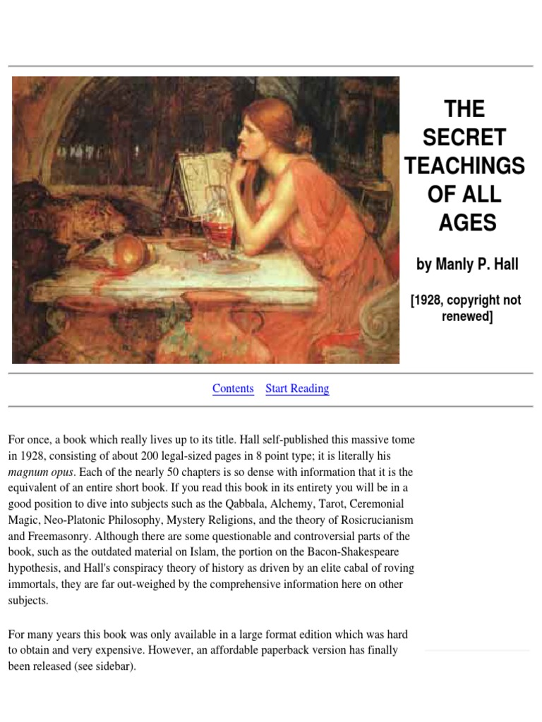 Manly P Hall The Secret Destiny Of America Pdf