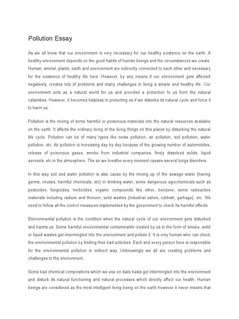 Write my air pollution essay