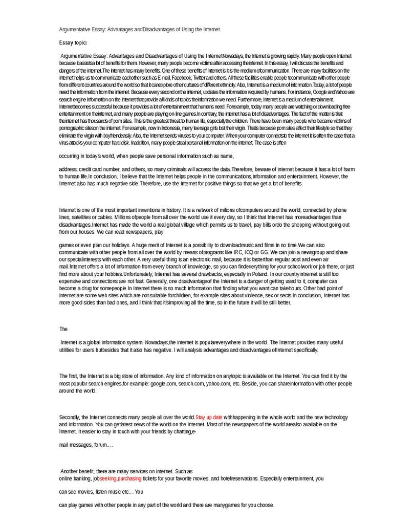 Internet dating argumentative essay
