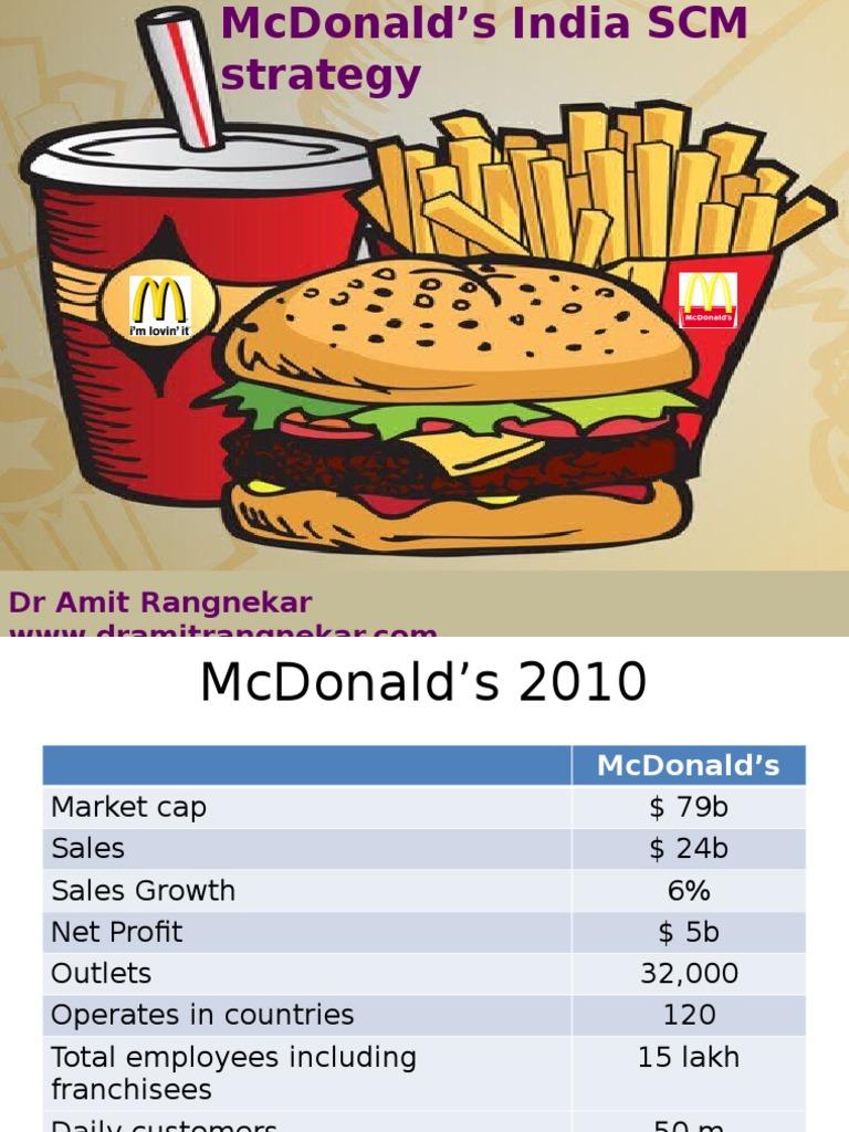 mcdonalds india supply chain management