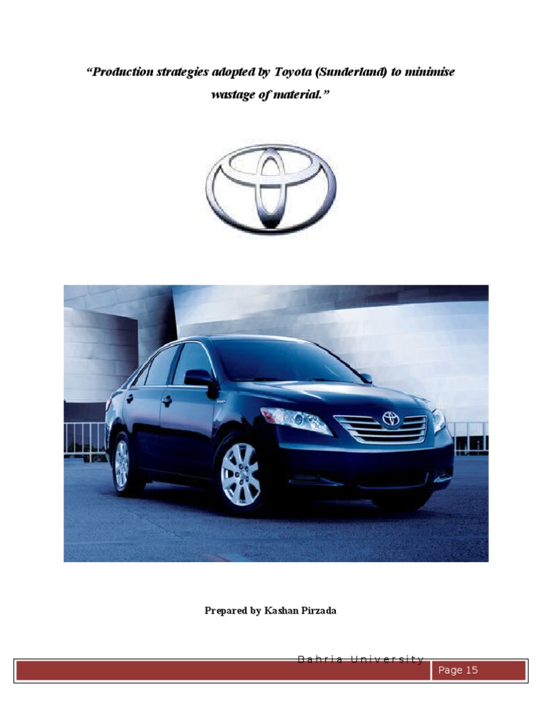 toyota production system and case study toyota essay