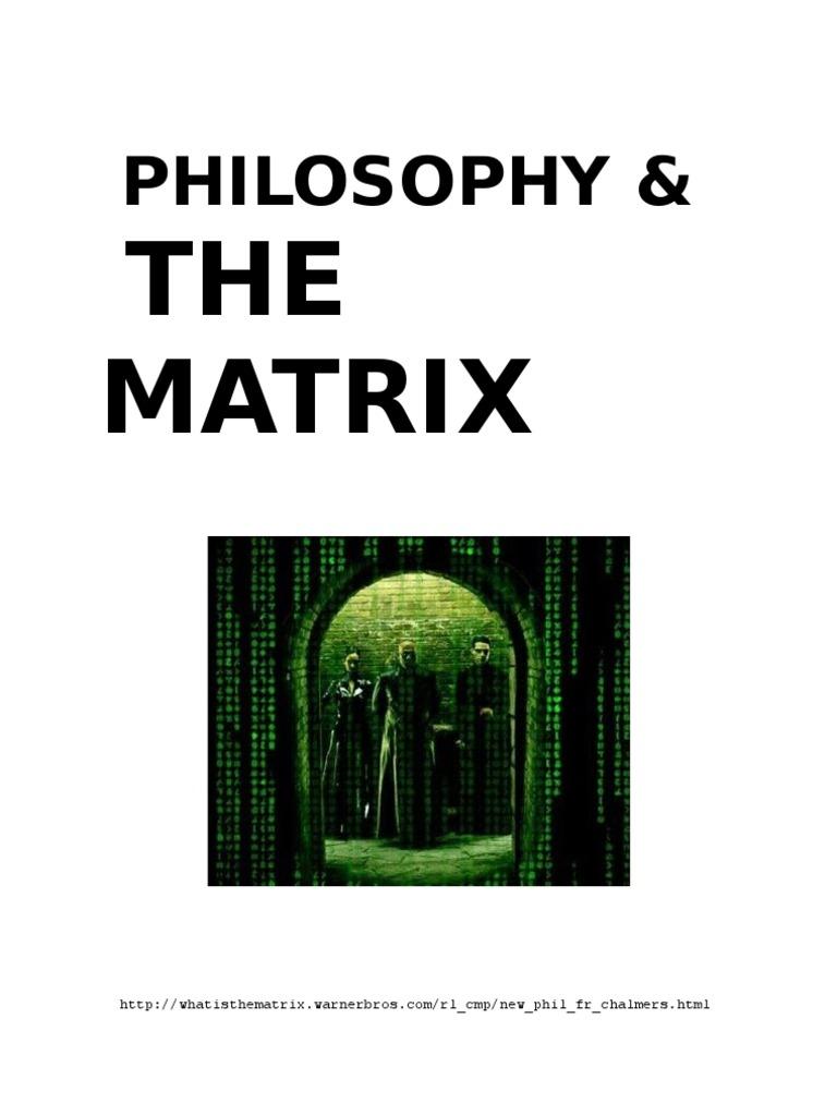 plato descartes and the matrix 3 essay