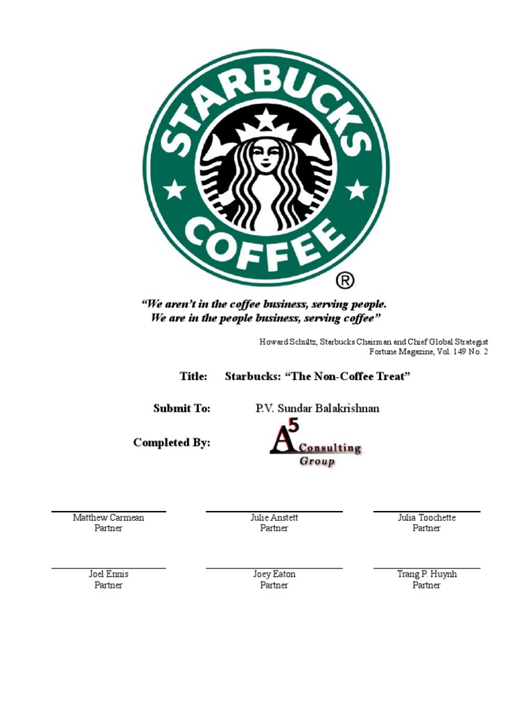 starbucks current marketing situation What is the meaning of current market situation a marketing plan is defined as a set of initiatives designed to inform the public about a product and its.