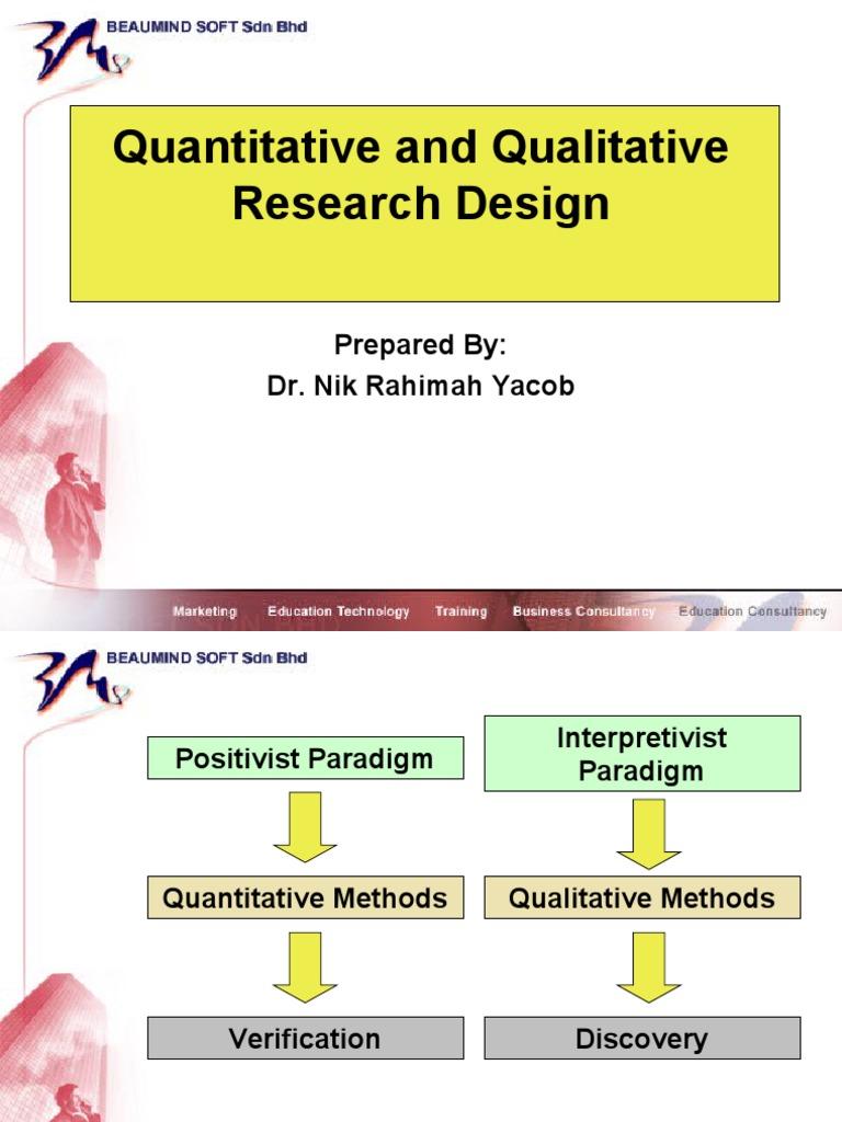 quantitative and qualitative research m