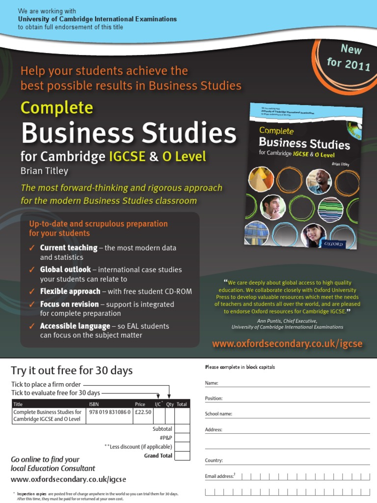 gcse business studies coursework evaluation