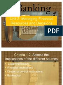 managing financial resources 2 essay