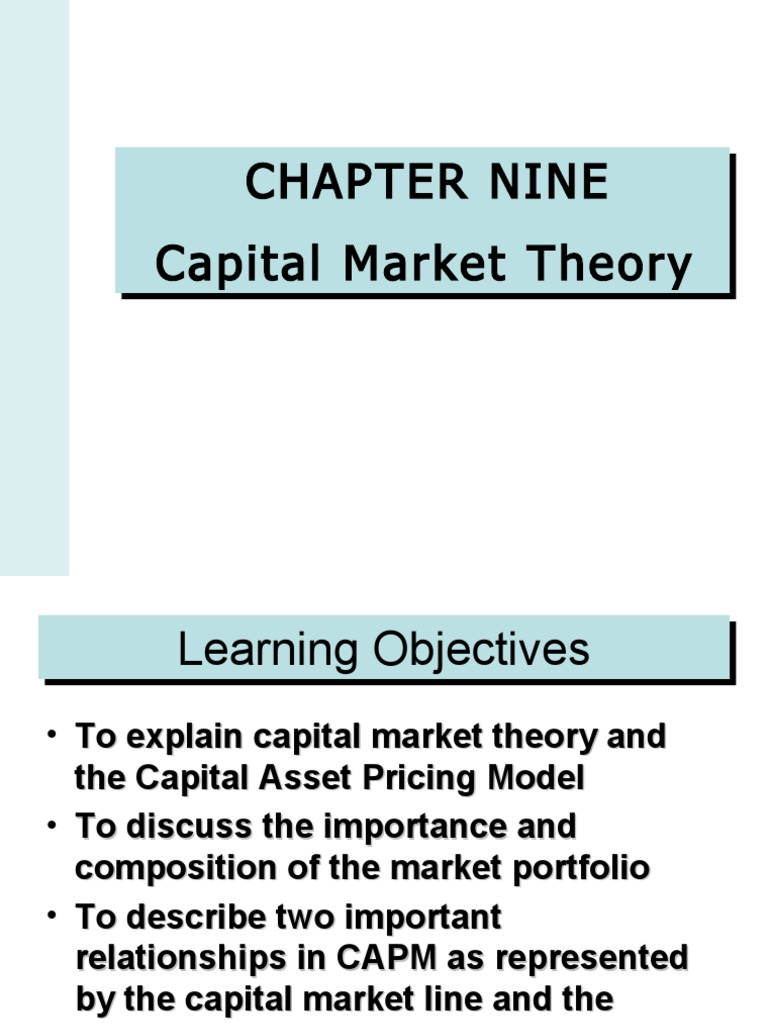 the importance of the capital asset pricing model in the business world Cost of capital and similar cost of cost of equity is a central concern to potential investors applying the capital asset pricing model and business case.