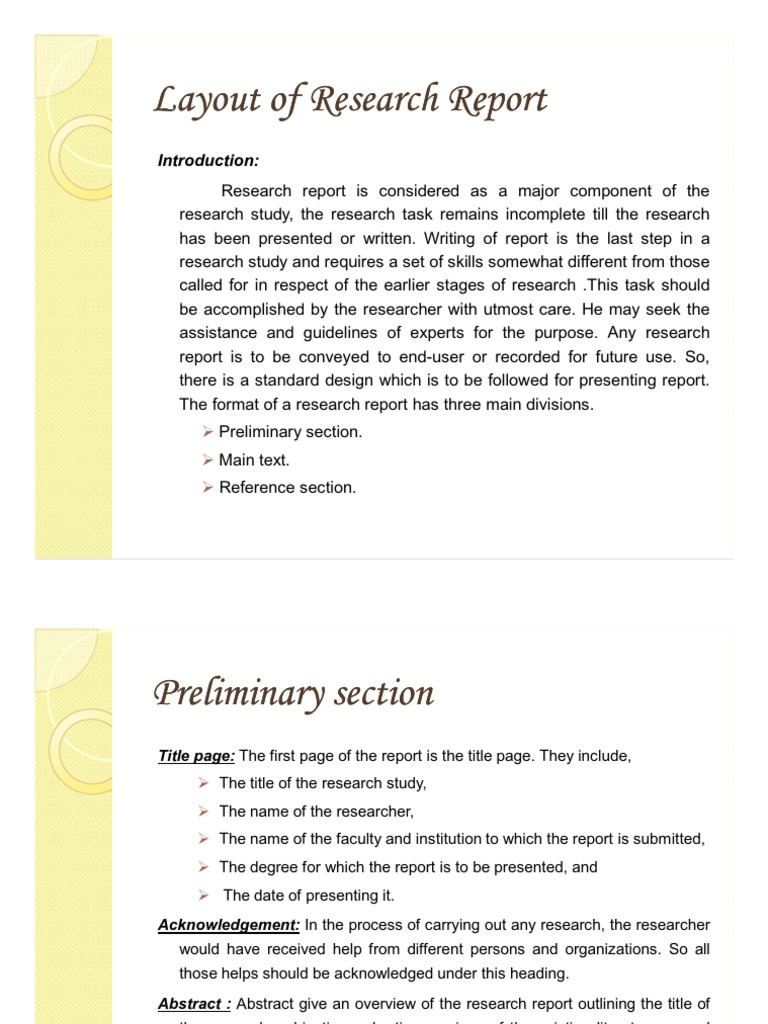 layout of research paper