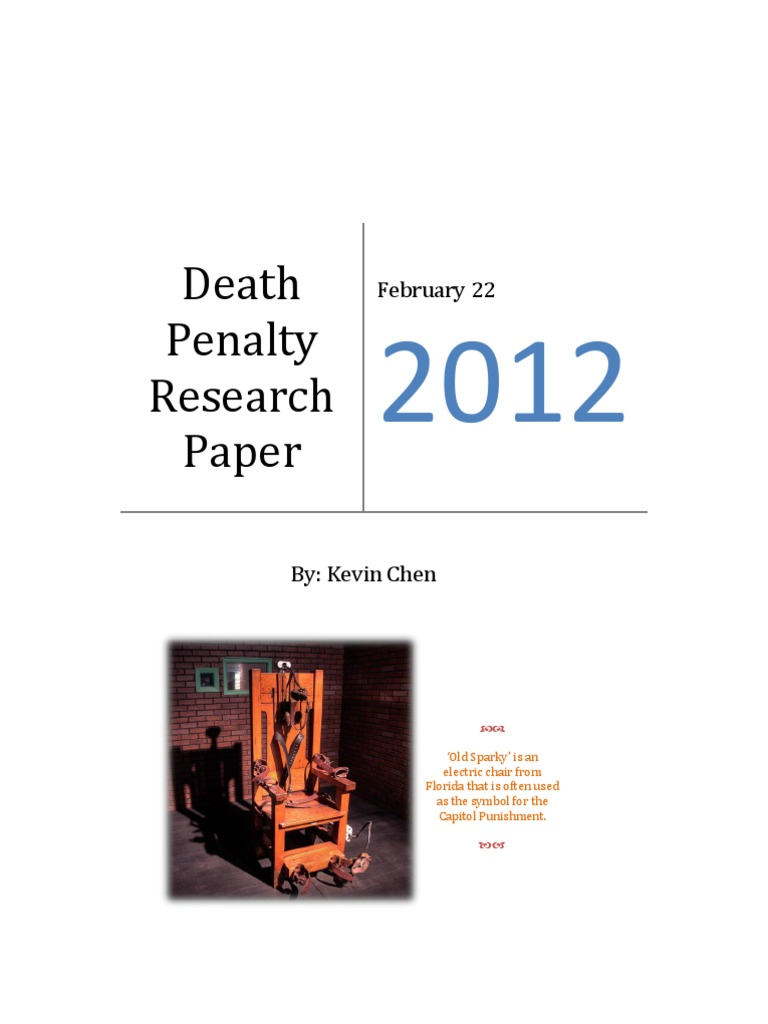 anti death penalty research papers [tags: capital punishment death penalty essays papers] 661 words (19 pages) good essays: the death penalty - do you fear death if you are given the death penalty.