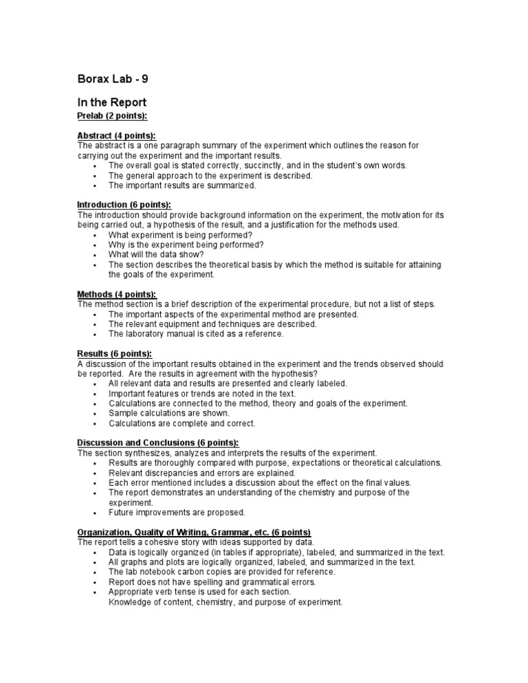 writing a lab report example Academic english lab reports written in english should be written in language that is quite formal and precise so for example, a lab report on memory could start with a sentence such as ´psychologists 5 v6 have been studying memory processes experimentally for over 100 years.