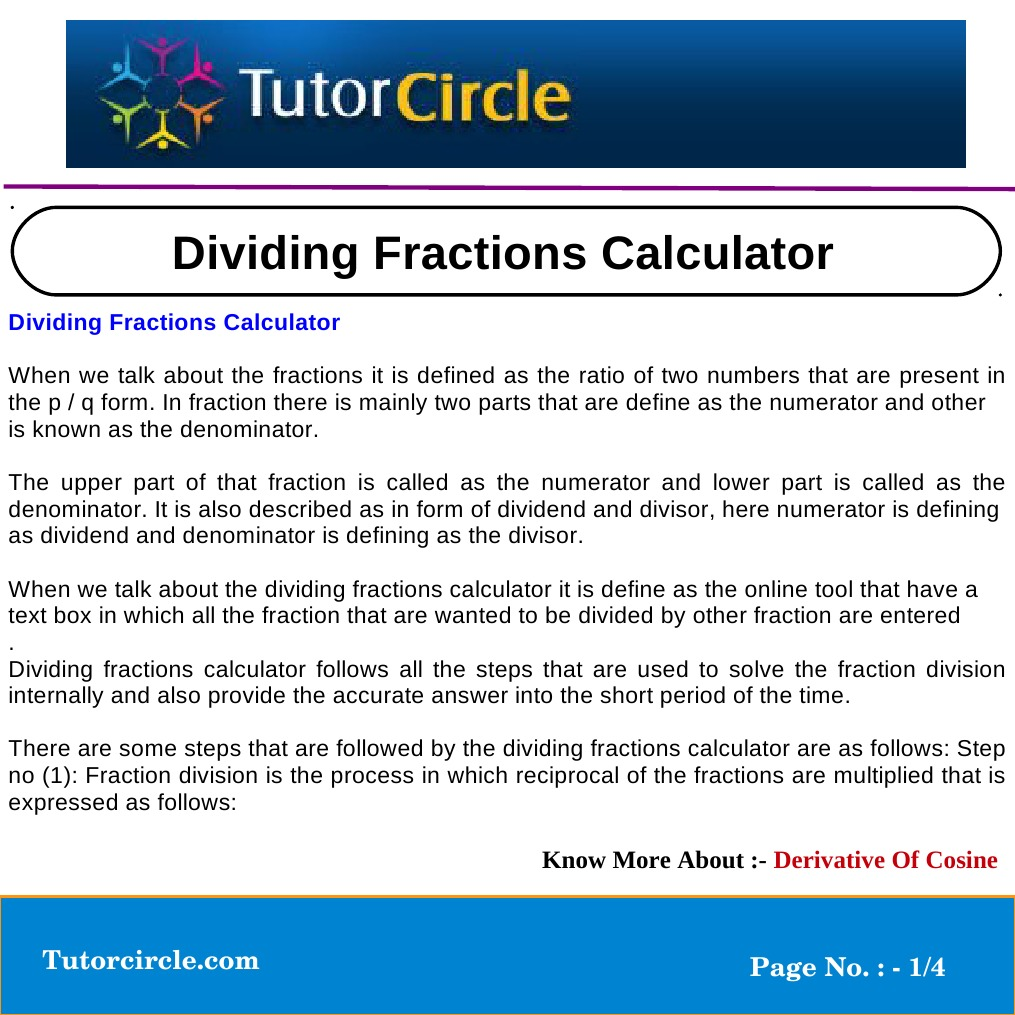 Fraction calculator online mathematics