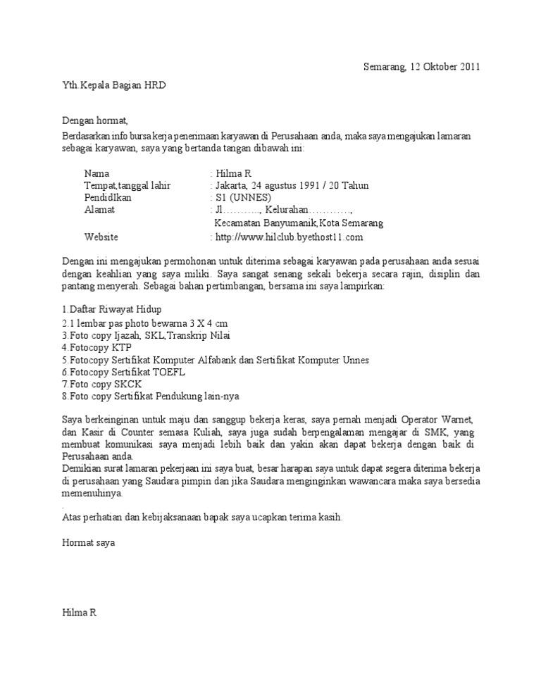 Job application letter contoh surat lamaran kerja pramugari ben jobs contoh lamaran thecheapjerseys Images
