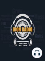 Episode 109 IronRadio - Guest Dr. Josh Cotter Topic Muscle Research, ACSM Event
