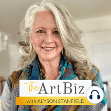 Making a Living as a Teaching Artist with Elizabeth St. Hilaire (#4): Alyson talks with Elizabeth St. Hilaire about how she created a successful art career and became a full-time artist. Includes mention of multiple streams of income and her teaching models.
