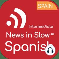 News in Slow Spanish - #624 - Intermediate Spanish Weekly Program: En la primera parte del programa, comentaremos algunas de las noticias que acapararon titulares esta semana. Discutiremos la petición que la Unión Europea ha enviado a seis países europeos para que suspendan las restricciones fronterizas del...