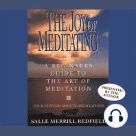 The Joy of Meditating