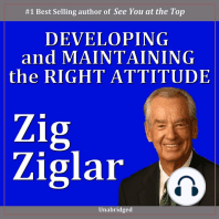 Developing & Maintaining the Right Attitude