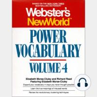 Webster's New World Power Vocabulary, Volume 4