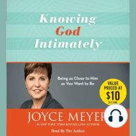 Knowing God Intimately