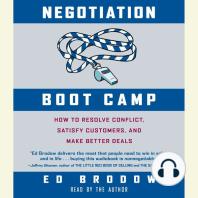 Negotiation Boot Camp