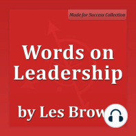 Words on Leadership