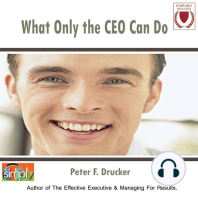 What Only the CEO Can Do