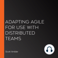 Adapting Agile for Use with Distributed Teams