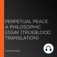Perpetual Peace, A Philosophic Essay (Trueblood Translation)