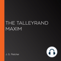 The Talleyrand Maxim