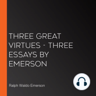 Three Great Virtues - Three Essays by Emerson