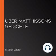 Über Matthissons Gedichte