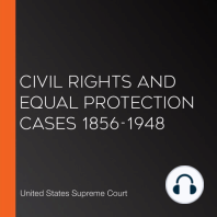 Civil Rights and Equal Protection Cases 1856-1948