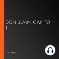 Don Juan, Canto 1