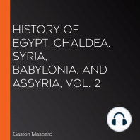 History Of Egypt, Chaldea, Syria, Babylonia, and Assyria, Vol. 2