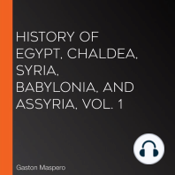 History Of Egypt, Chaldea, Syria, Babylonia, and Assyria, Vol. 1