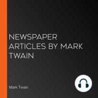 Newspaper Articles by Mark Twain