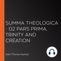 Summa Theologica - 02 Pars Prima, Trinity and Creation