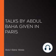 Talks by Abdul Baha Given in Paris