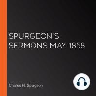 Spurgeon's Sermons May 1858
